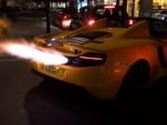 McLaren 12C spits huge flames