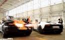 McLaren MP4-12C and Lamborghini Aventador flame battle screencap.