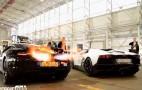 McLaren 12C And Lamborghini Aventador Flame Battle: Video
