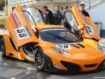 McLaren MP4-12C GT3 race car at the Nurburgring