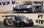 It's McLaren P1 GTR and Ferrari FXX K track time