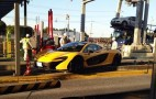 McLaren P1 Mounts Curb In Tollbooth Crash In Japan