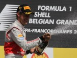McLaren's Jenson Button afting winning the 2012 Formula 1 Belgian Grand Prix