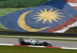 Mercedes AMG at the 2012 Formula 1 Malaysian Grand Prix