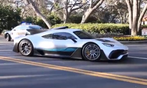 Mercedes-AMG Project One on a public road