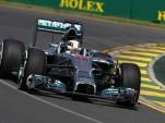 Mercedes AMG's Lewis Hamilton at the 2014 Formula One Australian Grand Prix