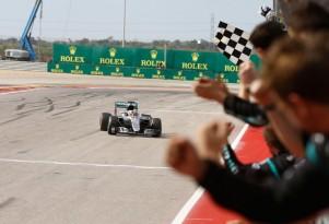 Mercedes AMG's Lewis Hamilton at the 2016 Formula One United States Grand Prix