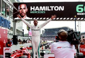 Mercedes-AMG's Lewis Hamilton at the 2018 Formula 1 German Grand Prix