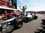 Mercedes AMG's Nico Rosberg after winning the 2013 Formula One British Grand Prix