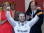 Mercedes AMG's Nico Rosberg after winning the 2013 Formula One Monaco Grand Prix