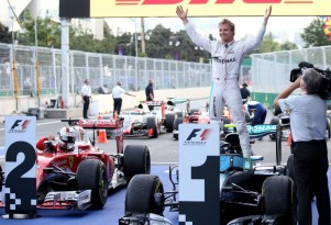 Mercedes AMG's Nico Rosberg after winning the 2016 Formula One European Grand Prix
