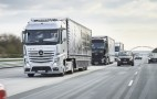 Mercedes autonomous trucks take part in cross-border trial