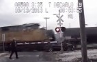 Mercedes Hit By Two Trains, Female Driver Escapes With Only A Broken Arm: Video