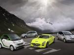 Mercedes-Benz entrants into the 2012 Silvretta E-Car Rally