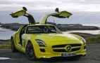 Move Over Tesla. There's a Mercedes Gullwing SLS AMG E-Cell Behind You.
