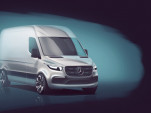 Teaser for next-generation Mercedes-Benz Sprinter van