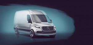 Next-generation Mercedes-Benz Sprinter teaser image