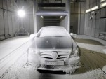 Mercedes-Benz wind tunnel climate testing