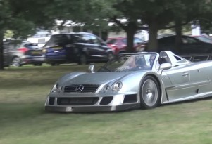 Mercedes-Benz CLK GTR takes on rally stage