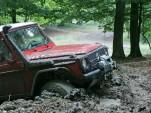 Mercedes G-wagen stuck in mud
