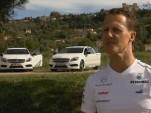 Michael Schumacher and the Mercedes-Benz A Class