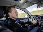 Michael Schumacher tests new assistance systems on the 2015 Mercedes-Benz C-Class