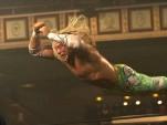 Mickey Rourke flying high