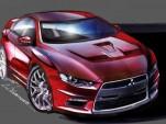 Mitsubishi shares production Evo X sketches