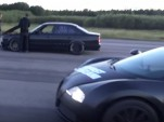 Modified E34 BMW M5 and a Bugatti Veyron