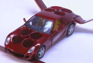Moller 'unveils' Ferrari 599-based hybrid flying car model