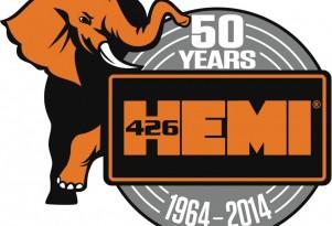 Mopar's 50th Anniversary logo for the Hemi V-8 engine