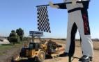 Porsche Gives Muffler Man Statue A Makeover