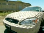 Mythbusters add dimples to Ford Taurus to test fuel efficiency theory