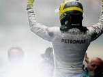 NIco Rosberg celebrates his first victory