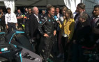 Nico Rosberg samples Gen2 Formula E race car