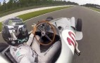 Nico Rosberg Takes Selfie Video From Behind The Wheel Of Fangio's 1954 F1 Car