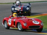 Nicolas Zapata at the wheel of a 1956 Ferrari 625 TR