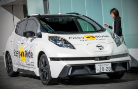Nissan and Dena Easy Ride self-driving taxi service