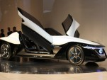Nissan BladeGlider Electric Sports Car Concept  -  2013 Tokyo Motor Show live shots (preview event)
