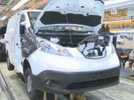 Nissan e-NV200 electric van on assembly line in Barcelona, Spain; production started in May 2014