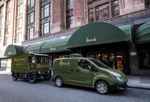 European brands adopt electric delivery trucks: Harrods, Hermes