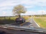 Nissan GT-R crash on back roads
