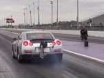 Nissan GT-R runs at the dragstrip