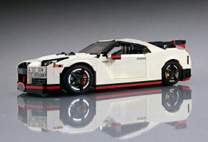 Nissan GT-R Nismo created with LEGO