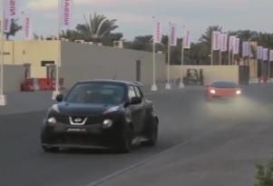 Nissan Juke-R in supercar 'street race'