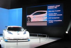 Nissan Leaf Nismo RC Concept: New York Auto Show Live Photos