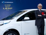 Nissan Leaf presented to Japanese actor Isao Natsuyagi