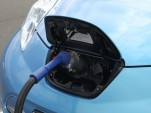 Nissan Leaf using CHAdeMO fast-charger