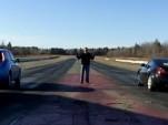 Nissan Leaf versus Nissan 370Z drag race