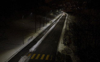 In Norway, street lights dim automatically
